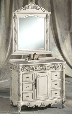 Our main bathroom vanity & mirror.