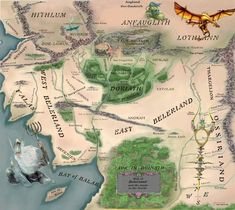 map of beleriand | Valar Guild Middle-Earth News D2x-Items Message Boards Online AD&D ...