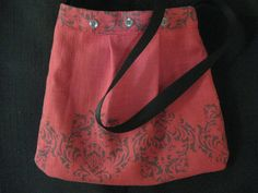 Red and Artful and Handmade Beautiful Purse by SublimeSurprises, $42.00