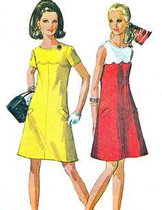 1960s Dress Pattern Simplicity 8138 Mod Yoked by paneenjerez, $14.00