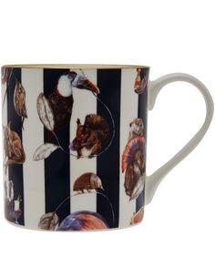 House of Hackney Midnight Stripe Hackney Empire Bone China Mug | Home | Liberty.co.uk