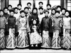 Chinese eunuchs and Cixi Empress, Qing Dynasty, 1644-1911