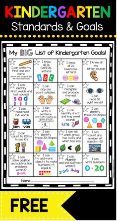 Kindergarten Goal Chart – FREEBIE - awesome incentive for your students to master math and ELA common core standards . and its FREE! Informations About Kindergarten Goal Chart - FREEBIE — Keeping My Kindergarten Assessment, Kindergarten Readiness, Homeschool Kindergarten, Homeschooling, Kindergarten Goal Sheet, Kindergarten Calendar, Pre K Curriculum, Daycare Curriculum, Kindergarten Freebies