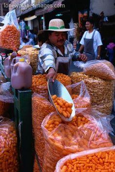 Botanas a granel, Snacks in bulk - Mercado la Merced, Mexico City by Greg Elms