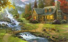 landscape painting - Buscar con Google