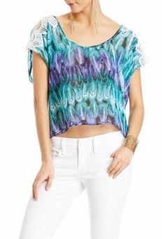 Ria Cropped Feather Blouse