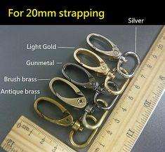 20mm 360/° Swivel Snap Swivel Lobster Clasp Purse Hoop Belt Buckle Large Hoop for Bag Purse Handbag Shoulder Bag Tote Making Silver