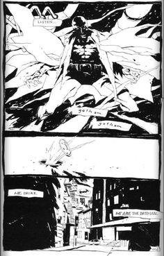 Kent Williams work on Batman: Black and White