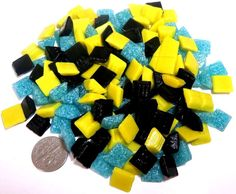 """165+ ct - 3/8"""" Mixed Color Venetian Glass Mosaic Tiles  BUY 1, GET 1 AT 20% OFF"""