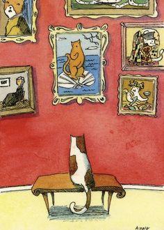 "The ""Artistic Cat""."