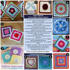 20 Free Afghan Square Crochet Patterns