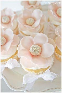 Baby Pink Wedding Cupcakes