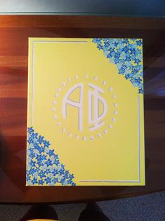 Alpha Phi - forget-me-not canvas!hmmm... I could do an AXO one with carnations....