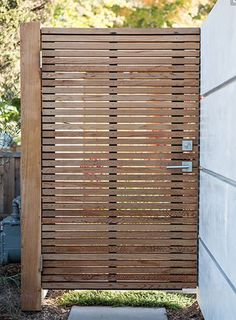 6 Productive Tips: Modern Pallet Fence front yard fencing brick.Old Fence Design modern fencing raised beds. Maison Eichler, Eichler Haus, Garden Doors, Garden Gates, Garden Trellis, Patio Doors, Backyard Fences, Backyard Landscaping, Landscaping Ideas