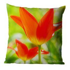 Blumenkissen oder Tuch Frühlingstanz der Tulpen