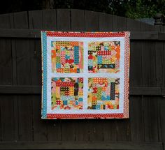 LOVE the colors! Modern Baby Girl Quilt  Log Cabin Quilt  Baby by MeadowMistDesigns, $95.00