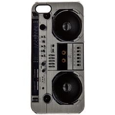 ZERO GRAVITY Boombox iPhone 5 Case Accessories (£18) ❤ liked on Polyvore featuring accessories, tech accessories, phone cases, phone, cases, electronics and zero gravity