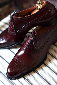 "il Quadrifoglio Bespoke Balmoral Shoes ilcea Burgundy Calf ""The Glamorous Life"""