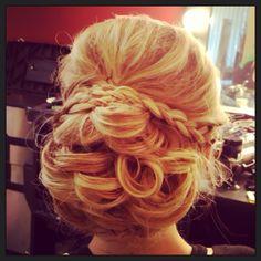 Bridal updo, braids & curls!