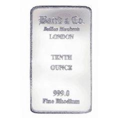 Baird Mint 1/10 Ounce Rhodium Bar