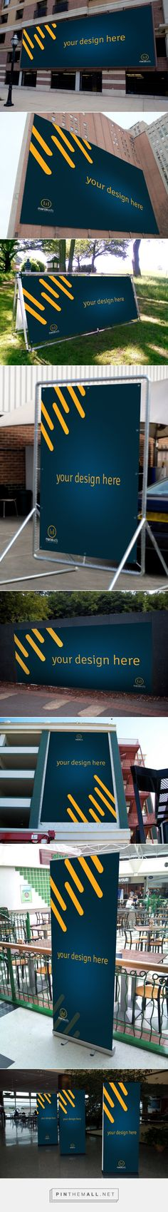 """Free PSD Download Billboards & Outdoor """" Mockup """" on Behance... - a grouped images picture - Pin Them All"""