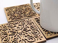 Laser Cut Designs, Geometric Designs, Diy Projects To Try, Project Ideas, Laser Cutter Ideas, Laser Engraved Gifts, Laser Cut Files, Cut Outs, Laser Cutting