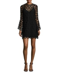 floral-lace-long-sleeve-dress by nicholas  #fashion #trends #onlineshopping #shoptagr
