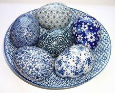 Blue and white porcelain eggs | by rheajm