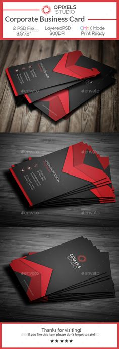 Corporate Business Card Template PSD #design Download: http://graphicriver.net/item/corporate-business-card/13844174?ref=ksioks