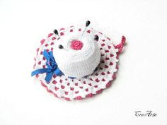 Crochet Pincushion White Pincushion Handmade by CreArtebyPatty