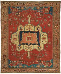 SERAPI - Northwest Persian 9ft 10in x 12ft 3in Late 19th Century http://www.claremontrug.com/antique-oriental-rugs-carpets/