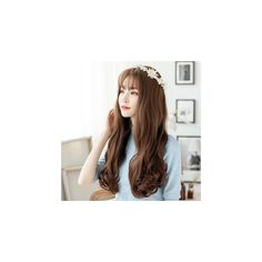 Clip On Hair Extension - Wavy (840 PHP) ❤ liked on Polyvore featuring beauty products, haircare, hair styling tools, accessories and wig