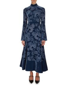 Christina Devore Velvet Midi Dress
