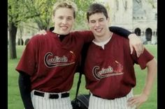 Jack Johnson (left) and Sidney Crosby (right) I had no clue they played baseball.