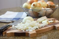 How to Chop an Onion | A Spicy Perspective. Also how to chop an onion without the tears.
