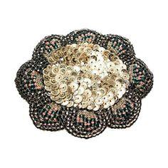 Perm · Silver  お花のようなモチーフのブローチ。 シックで重厚感のあるカラーが素敵です。