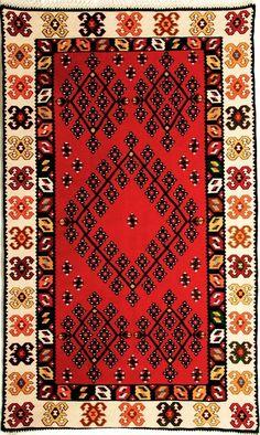 Harmony, Repetition and Vivid Colors of the Bosnian Kilim Floor Paint Design, Etnic Pattern, Pagan Symbols, Graph Paper Art, Ethno Style, Classic Rugs, Magic Carpet, Patterned Carpet, Textiles