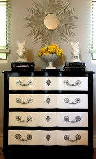 Black And White Painted Dresser With Silver Hardware - contemporary - bedroom - san diego - by Design Find