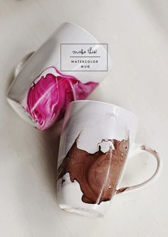 DIY Watercolor Mug – Great #gift idea!