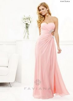 Strapless Pink Pleated
