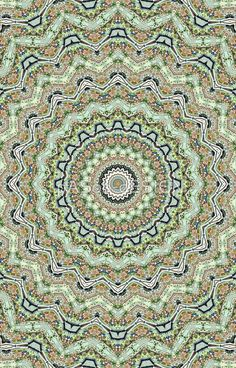 Green #Kaleidoscope by #pasob on #redbubble