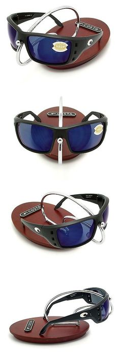 a9bac619a0 Sunglasses 151543  New Costa Del Mar Permit Black And 580 Blue Mirror  Plastic 580P -