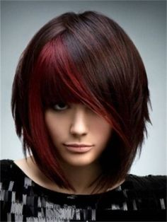 Highlights Ideas for Black Hair Color - Black hair color has always looked very attractive and classical but, with the help of hair highlights the hair receives a completely different look. Description from pinterest.com. I searched for this on bing.com/images