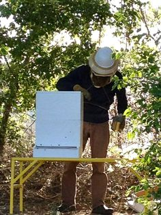 At two deep supers deep, plus a stand, my bee hive stand allows me to inspect the colony while standing up in stead of bending over or equating down.