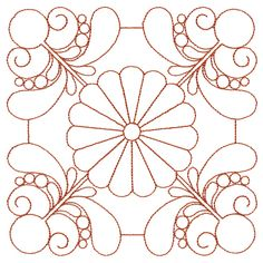 This embroidery collection features classic feather quilting designs with a dash of daisy! Use the designs for large-scale quilting or showcase the individual designs in a a small quilt or wall hanging. Quilting Stencils, Quilting Templates, Longarm Quilting, Free Motion Quilting, Hand Quilting, Quilting Designs, Machine Quilting Patterns, Quilt Patterns, Stencil Painting