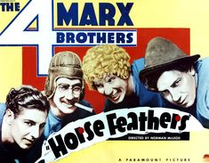 Horse Feathers, From Left Zeppo Marx Photograph