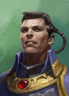 Warhammer 40k Art, Warhammer Models, Character Portraits, Character Art, Battlefleet Gothic Armada, Navy Admiral, Fantasy Battle, Fantasy Characters, Dungeons And Dragons