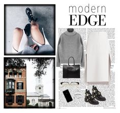 """""""#357"""" by blacksky000 ❤ liked on Polyvore featuring BCBGMAXAZRIA, Balenciaga, Rebecca Minkoff and Urbanears"""