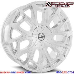 Azara AZA-512 Chrome Custom Aftermarket Wheels Rims