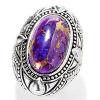 Gem Insider Sterling Silver 18 x 11mm Oval Purple Mohave Turquoise Ring ShopNBC.com